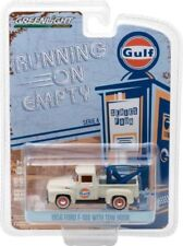 Greenlight 1/64 Running On Empty S4 1956 Ford F100 Tow Truck Wrecker GULF 41040C