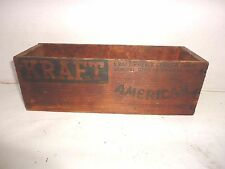 Vtg. Kraft - Phenix Cheese Corp. American Pasteurized Process Cheese Wooden Box
