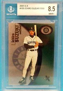 2001 FLEER E-X ICHIRO SUZUKI #105 ROOKIE CARD RC /1999 - BGS 8.5