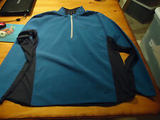 MENS NIKE SPHERE RUNNING PULLOVER  STRETCH WOVEN FRONT  XXL  BLUE  NWOT