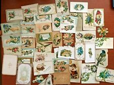 Lot of 42 Various Antique Victorian Calling Cards Diecut Dove Hands Flowers