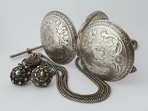 Ottoman  Turkish silver full  hunter pocket watch