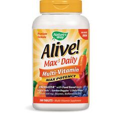 Natures Voie - Alive Multi-Vitamines Fer Gratuit Régime Supplément - 180