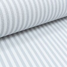 P&S Quality Striped Textured Grey and White Stripe Pinstripe Thick Wallpaper
