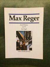 Max Reger 12 pièces pour orgue opus 59 score partition Breitkopf 8510