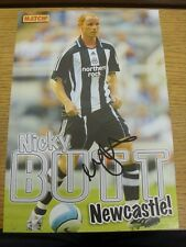 90-2000's Autographed Magazine Picture A4: Newcastle United - Butt, Nicky. We tr