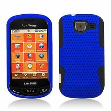 Mesh Hybrid Case for Samsung Brightside U380 - Black/Blue