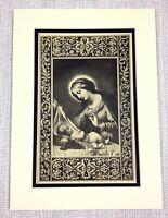 1927 Antico Stampa Madonna E Gesù Cristo Italiano Art Vecchio Master Pittura