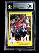 1986 MICHAEL JORDAN STAR COURT KINGS CARD SIGNED BECKETT AUTOGRAPH AUTO #18
