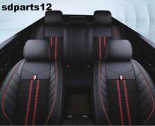 Pour Nissan Renault Citroen Housses Sièges Luxe Jeu Complet Noir Rouge Broderie