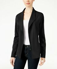 STYLE & CO Womens Open Front Blazer Jacket, XXL 2XL, Draped, Dark Grape, Soft