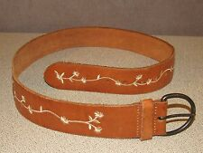 Abercrombie & Fitch Light Brown Wide Jeans Leather Belt Size Medium