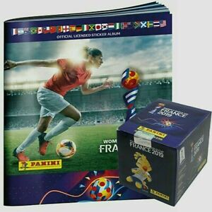 Panini 2019 France Women's World Cup Album and Box (50 Packet /250 sticker Mint