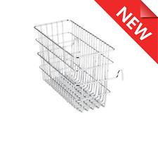 NEW STAINLESS STEEL CUTLERY DRAINER Utensil Basket Strainer with Hanger Hooks