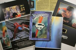 Superman The Movie Warner Brothers Special Edition DVD box set, poster, cards +