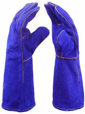 14 Inch Welding Gloves Heat Resistant Lined Leather 00004000  for Tig Welders Bbq