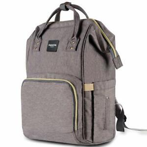 HaloVa Diaper Bag Multi-Function Waterproof Travel Backpack Large Capacity