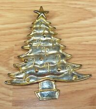 Vintage Gold Tone Metal Christmas Tree Pin / Brooch / Ornament *Read*