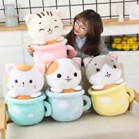 Blanket In A Plush Toy Cat Pillow Kawaii Soft Animal Cat Toy Birthday Gift