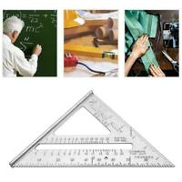 """Aluminum Alloy Speed Square Roofing 45 Degree Multifunction Triangle Ruler 7"""""""