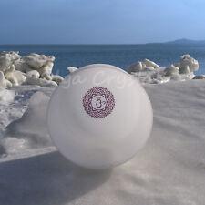 "8"" B Crown Purple Chakra Symble Quartz Crystal Singing Bowl Heal Stone"