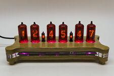 Z573M Nixie Tubes Desk Clock + Wooden Case + Power Supply + Remote + RGB Leds