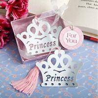 PRINCESS BOOKMARK Metal Book Mark Girls Royal Crown Birthday Party Frozen Gift