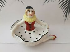 "Terrific Art Deco 1920's Style  ""Pierrette"" Clown Pin Cushion Doll Pin Dish"