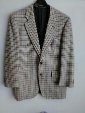 Vintage Burberry Men's Grey Dogtooth Check Jacket size 52 Regular Pure Cashmere