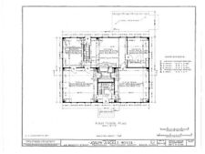 Gambrel Roofed Colonial New England House plans, wood framed home blueprints