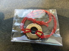 TETELESTAI RED BRACELET WITH GOLD COLORED STAMPED WASHER  GOLD COLORED