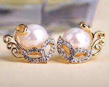 Circón Oro Rosa Imitación Cristal Pendientes Stud Tear Gota Lágrima perforado E168 Reino Unido
