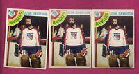 3 X 1978-79 OPC # 211 RANGERS JOHN DAVIDSON GOALIE  CARD (INV# A4492)