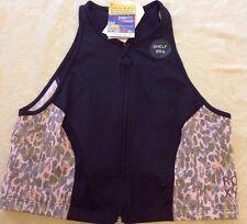Roxy Black Audrina Zip Vest Shelf Bra Upf 50+ Size 12