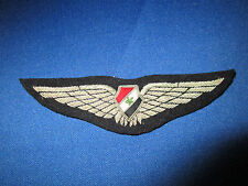 EARLY SYRIA SYRIAN AIR FORCE OFFICER PILOT WINGS SILVER BULLION EMBROIDERED