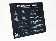 Star Trek USS Enterprise Lineage Dye Sublimation Blueprint Plaque