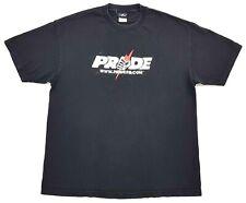 Vintage Pride FC Logo Tee Black Size XL Mens T Shirt MMA UFC