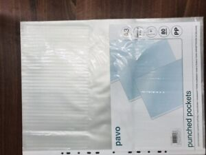 10 x Punched Pockets A3 pp 80 micron Top Opening