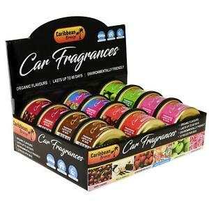 BOX of 12 Intensive Car Van Scents Home Air Freshener Fresh Fragrance