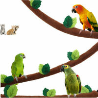 Parrot Pet Hanging Stand Soft Bridge Toy Parakeet Perches Platform For Bird Cage