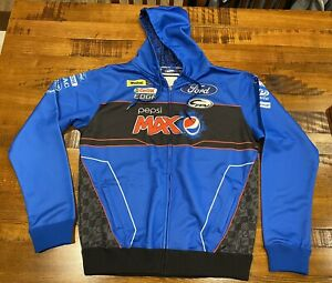 MENS FORD PERFORMANCE RACING PEPSI MAX ZIPPERED HOODED WINDCHEATER SIZE 2XL NWOT