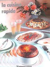 LIVRE DE CUISINE TUPPERWARE -  CUISINE RAPIDE - 1990