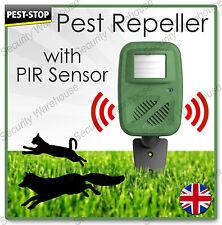 OUTDOOR Mouse Rat Cat FOX Rodent Ultrasonic PIR Sensor PEST REPELLER DETERRENT