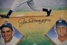 Joe DiMaggio Yankees Legend Signed 24x36 Poster Auto Ron Lewis