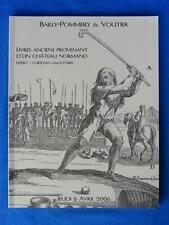 CATALOGUE LIVRES ANCIENS PROVENANT D'UN CHATEAU NORMAND