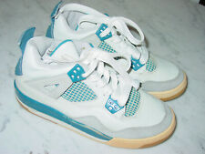 """2006 Nike Air Jordan Retro 4 """"Military Blue"""" Youth Shoes! Size 4.5Y Sold As Is!"""