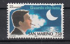 1996 SAN MARINO L. 750 STORIA CANZONE PER BUSCAGLIONE GUARDA CHE LUNA  MNH**