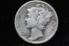 1931-S Mercury Dime LOT #4A6 VF 10C 10 Cent Semi Key Date US Silver Coin
