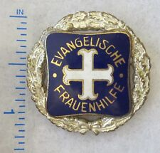 Pre WW2 Vintage GERMAN EVANGELISCHE FRAUENHILFE BADGE PIN Original