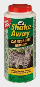 New! 28.5oz SHAKE-AWAY Domestic Cat Repellent Granules Safe Ready To Use 2854448